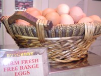 Local Free Range Eggs in Basket
